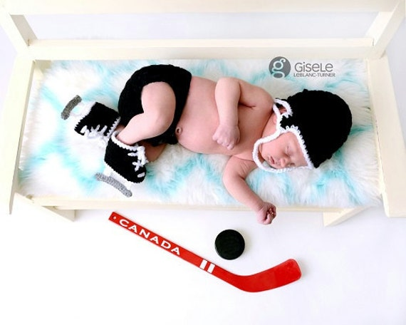 ON SALE! Baby Hockey Hat ,Diaper Cover and Hockey Skates, Skate Booties, Baby Hockey Helmet, Hockey Baby Shower