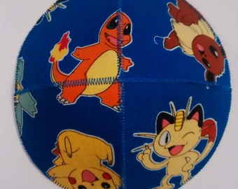Pokemon Saucer Kippah Yarmulke Blue Classic