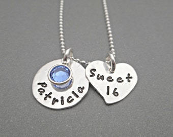 Sweet 16 Necklace - Sweet 16 Jewelry - Sweet 16 Gift - Sweet Sixteen - Personalized Jewelry - 16th Birthday - Gift for Daughter - Custom