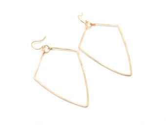 Gold Arrowhead Earrings - Arrowhead Earrings - Gold Earrings