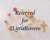 Reserved Listing for 2LittleRavens