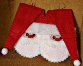 Felt Santa Ornament (Hat to the Right)