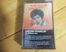 Tested and Working Vintage Audio Cassette Tape Aretha Franklin 30 Greatest Hits VG Condition