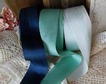 shades of blue  silk ribbon  wedding bouquets and vintage decor!, Gift wrapping, Wedding Favors , Romantic By The Yard
