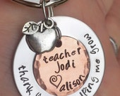 Teacher Gift, teacher gift, teacher appreciation, thank you for helping me grow, teacher key chain, teacher thank you gift