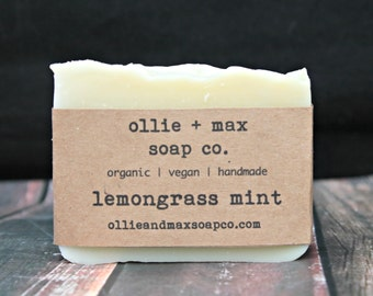 Lemongrass Mint Vegan Soap, Natural Soap, Organic Soap
