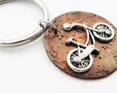Bike Keychain with Bicycle and Funny Quote (My Other Car is a Bicycle) - Sports or Cyclist Gift