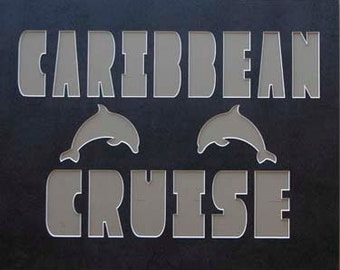 CARIBBEAN CRUISE 16x20 Name Frame Photo Mat