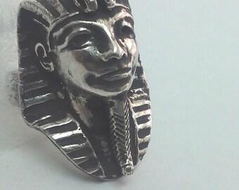 Pharaoh, Egyptian Jewelry, Pharaoh Ring, King Tut Of Egypt, Ancient Jewelry, Silver Pharaoh Ring, Gift For Men, Cool Mens Gift, Gift For Him