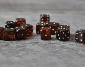 HandCrafted Natural Baltic Amber Dice