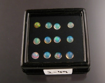 Opal cabs Parcel 249, Twelve 4mm to 4.25mm round Natural Ethiopian Opals