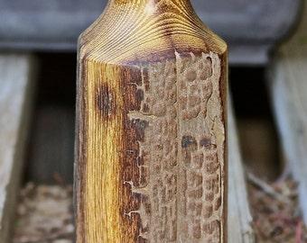 Osage Orange Vase made from 100+ year old fence post