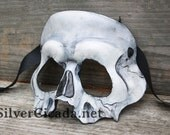 MADE to ORDER Skull Leather Mask  Great for Halloween Burning Man Masquerade Costume LARP Cosplay Mardi Gras Festival