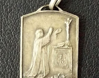 """BLESSED BEATA MARIANA of Jesus Religious Order of Mercy Religious Medal Pendant on 18"""" sterling silver rolo chain"""