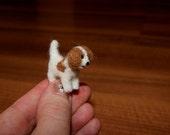 Felted dog, dog miniature, miniature puppy, felted miniature, doggy, cake topper, your dog miniature