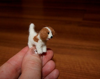 Felted dog, dog miniature, miniature puppy, felted miniature, doggy, cake topper, your dog miniature