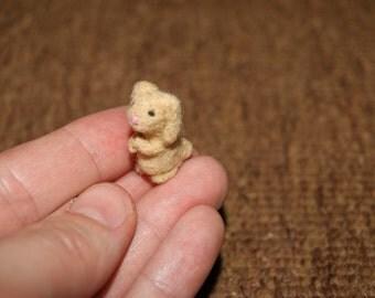 Felted rabbit, needle felted rabbit, super small rabbit