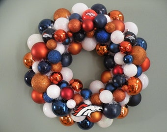 DENVER BRONCOS Ornament Wreath Team Wreath