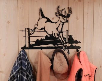 Buck Deer Coat Rack