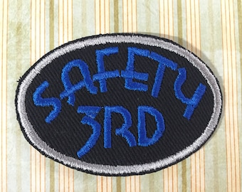 PATCH Safety 3rd - Blue, Silver