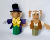 CUSTOM Finger Puppets for K - Roald Dahl's BFG, Willy Wonka