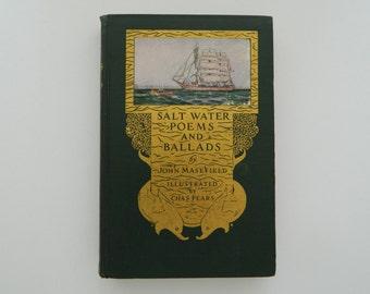 Salt Water Poems and Ballads. Rare Antique Illustrated Nautical Book. Circa 1920.
