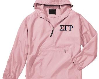 Sigma Gamma Rho Unlined Anorak (Pink)