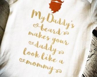 My Daddy's Beard Funny Baby Bodysuit