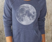 Women's Slouchy Sweatshirt - Full Moon - Alternative Apparel Maniac Sweatshirt