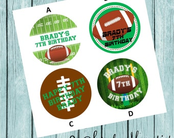 Football Labels- Printed and Shipped to You!