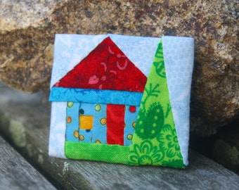 Lapel Pin with House and Tree