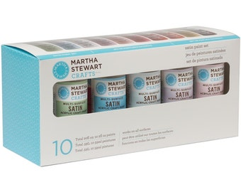 Satin Acrylic Paint Set - by Martha Stewart - 10 Colors - Acid Free - Archival Quality (131008)