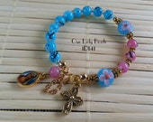 Girl's One-Decade Rosary Bracelet,Religious Gift,Catholic Jewelry,Confirmation,First Communion,Children's Rosary Bracelet,#1D141