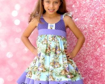Girls Easter Dress #1  Bunnt Easter Dress Size 2T, 3T, 4T, 5, 6, 7, 8