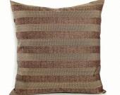 Brown Pillow Cover Stripe Fall Decor Decorative Pillow Throw Pillow Cover Floor Cushion Euro Sham 26x26 24x24 22x22 20x20 18x18 16x16