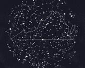 Virginia Constellation Print, 8.5 x 11