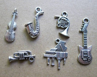 Musical Charm Collection in Silver Tone - C2274