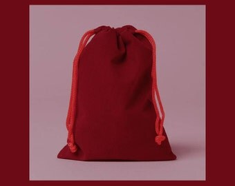 1 - 3 x 4 inch Red Velour Bag for Gift Packaging