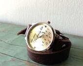 Leather Wrap Watch Bracelet- who cares I'm already late