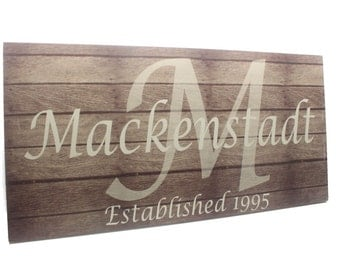BARN WOOD SIGNS-Personalized Housewarming Gifts-Christmas Gifts-family name signs-last name signs make great gifts to give