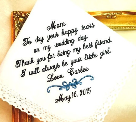Wedding Gifts For Best Friend Female : ... my BEST Friend I will alwys be your little GIRL hankie hankerchief