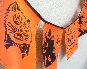 Halloween Banner. Retro Halloween. Vintage Halloween.