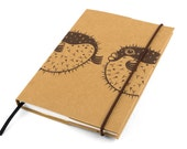 Small lined notebook, 2017 calendar, Blowfish, weekly planner, monthly planner, notepad, Pocket notebook, unique gift, agenda, animal