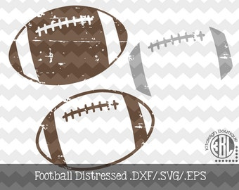 Football Distressed INSTANT DOWNLOAD in dxf/svg/eps for use with programs such as Silhouette Studio and Cricut Design Space