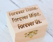 Forever Thine Forever Mine Forever Us Immortal Beloved Love Letter Rustic Engraved Ring Box
