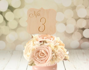 Rustic Wedding Table Numbers Engraved Wedding Table Numbers Table Number Signs #DownInTheBoondocks