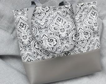 Grey Paisley Bag