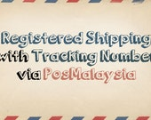 Upgrade to Registered Shipping with Tracking Number