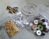 Destash Jewelry Findings Mixed Bead Lot Supplies Clasps DIY Collection
