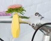Geometric Bike Planter in Yellow